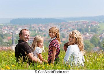 été, famille, heureux