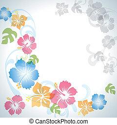 été, fleurs, fond