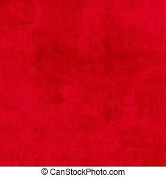 été, fou, solide, fond, textured, rouges