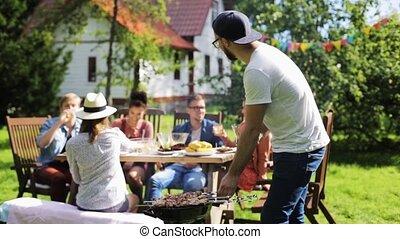 été, garden-party, barbecue, amis, avoir