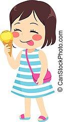 été, girl, glace