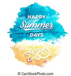 été, jours, heureux