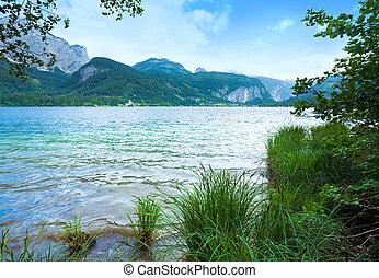 été, lac alpin, vue
