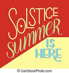 été, lettrage, solstice