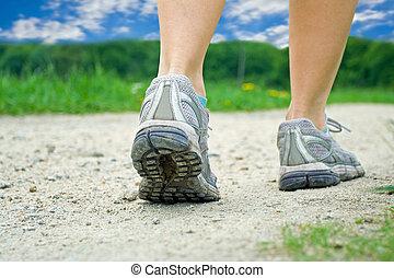 été, marche, exercice