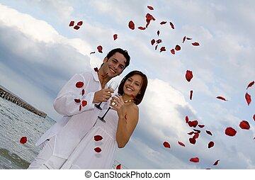 été, mariage plage