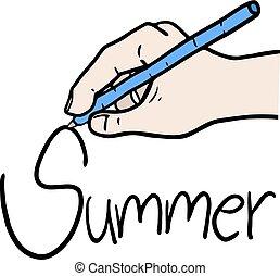 été, message, writting