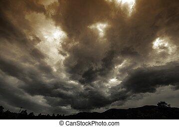 été, nuage orage