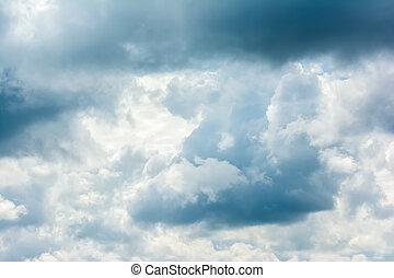 été, nuages, orage