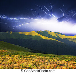 été, orage