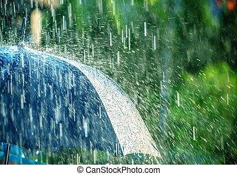 été, orage, pluie