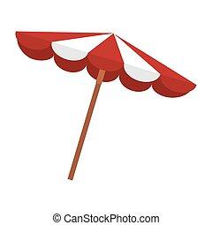 été, parasol, plage