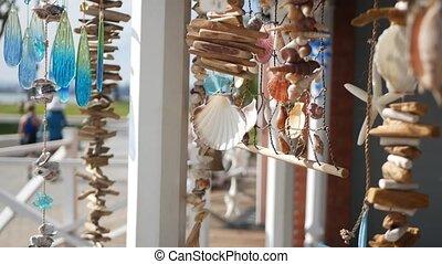 été, pastel, marin, beachfront, mer, style, vacances, plage...