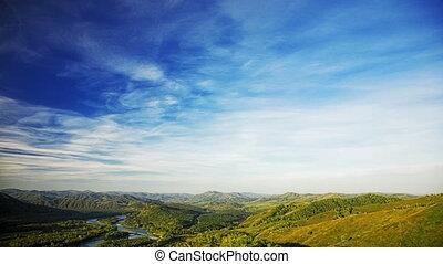 été, paysage, montagne