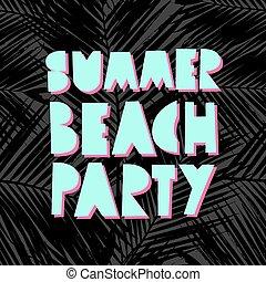 été, plage, conception, fête