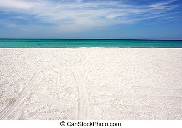 été, plage, mer