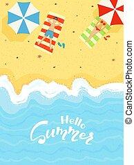 été, plage, sablonneux