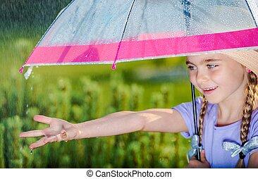été, pluie