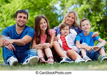 été, portrait famille