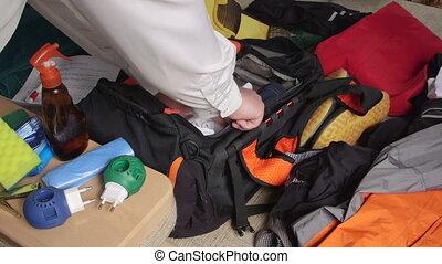 été, sac voyage, emballage, vacances, voyageur, listes contrôle