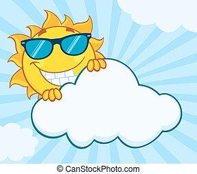 été, sourire, caractère, soleil