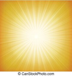 été, starburst, fond, soleil