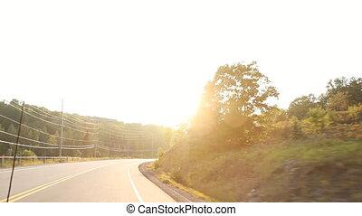 été, sun., conduire, pays