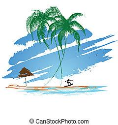 été, surfer