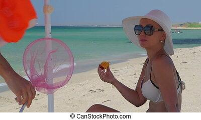 été, vacances plage, famille