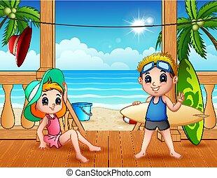 été, vacances plage, paysage