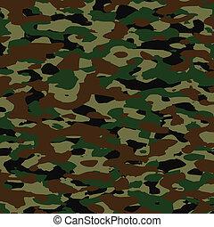 été, vecteur, camouflage, modèle