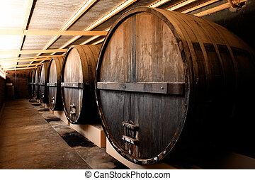établissement vinicole, barils