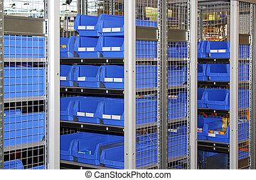 étagère, boîtes