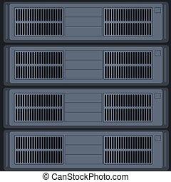étagère, données, serveur, centre
