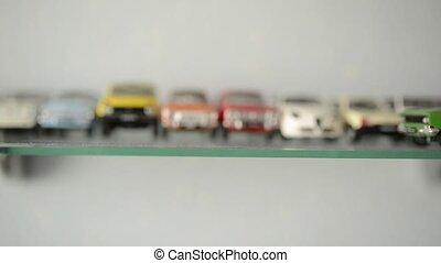 étagère, jouet, collection, voitures