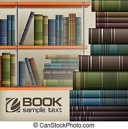 étagère, livre, piles