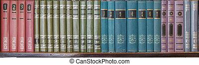 étagère, livres, vieux