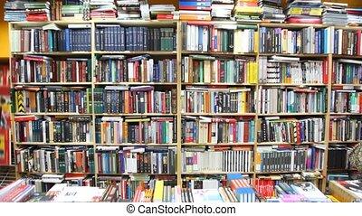 étagères, librairie, livres, shopboard