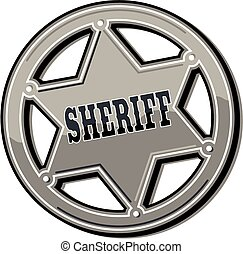 étain, écusson, shérif