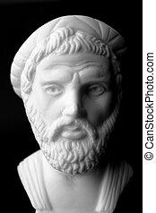 était, musique, philosophe, geometer, marbre, important, ...