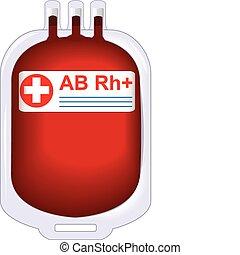 étamé, donateur, sanguine