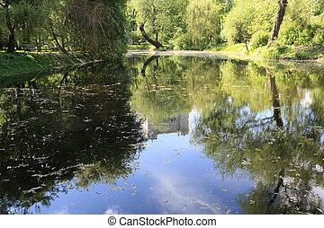 étang, ville parc