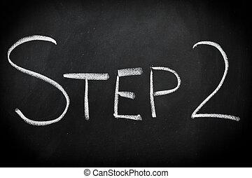 étape, deux
