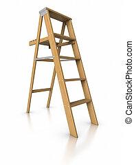 étape, ladder., 3d