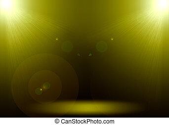 étape, or, plancher, flamme, résumé,  2, éclairage,  image, projecteur