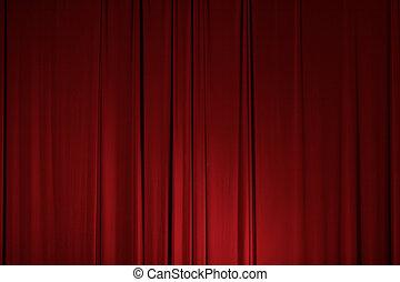 étape, théâtre drapent, rideau, élément