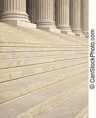 étapes, et, colonnes, à, les, entrée, de, etats-unis, cour...