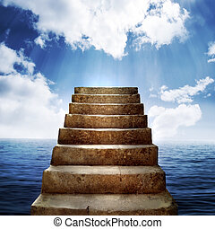 étapes, nuages