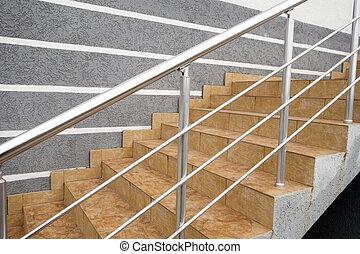 étapes, vol, escalier