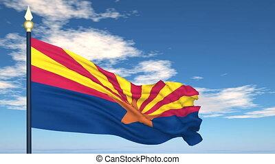 état, drapeau arizona, usa